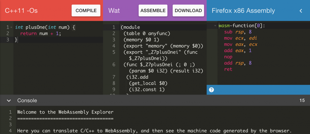 WASM WebAssembly Screenshot