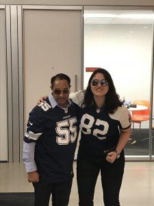 Amit and Amanda in Cowboys jerseys