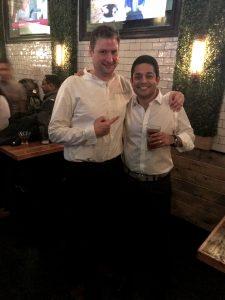 Sandro and Suman in matching white shirts